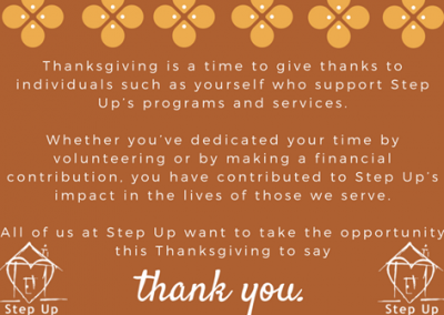 Happy Thanksgiving from all of us at Step Up!