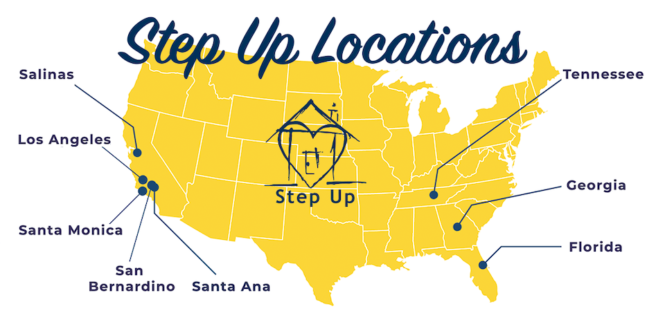 Step Up Locations Map